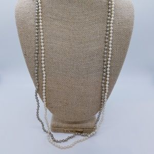 Pair Of J. Crew 28 Inch Petite Pearl Necklaces